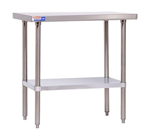 Flat-top-arbeitstisch (Edelstahl Tisch-914x 610x 914mm (91,4x 61x 91,4cm) Flat Top-kein Aufkantungen.)