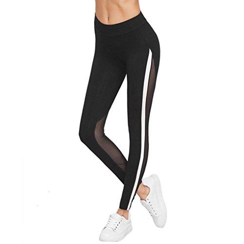 Yoga Hosen Damen Mädchen Yoga Leggings Hose Btruely Hohe Taille Sporthosen Yoga Workout Gym Pants Yoga Leggings Fitness Übung Ausbildung Hose (M, Schwarz 5)