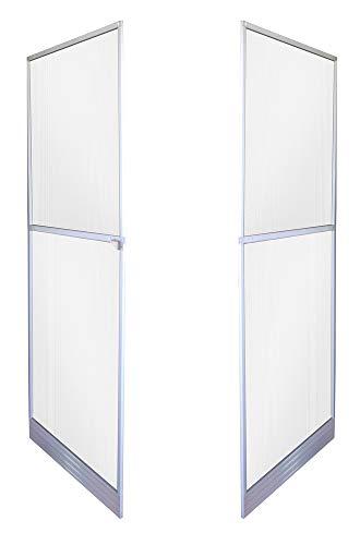 VERDELOOK Zanzariera con Rete in Poliestere Doppia Porta a Battente, Dimensioni 150x240 cm