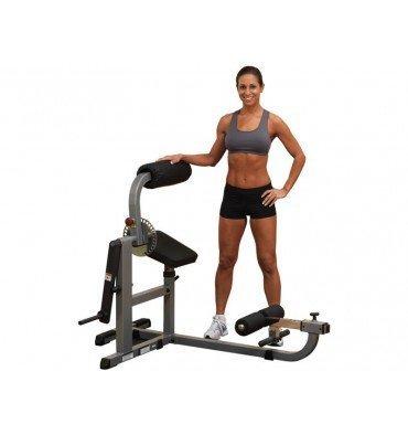 Solid Polyurethan (Body-Solid GCAB-360 Bauchtrainer & Rückentrainer mit Gewichten, 50mm (Hantelscheiben Polyurethan (4 Grifflöcher)))