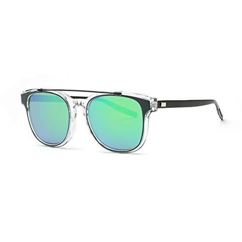 Kjwsbb Sonnenbrille Damen Designer Acetate Frame Double Bridge Sonnenbrille Beschichtung Lens Classic