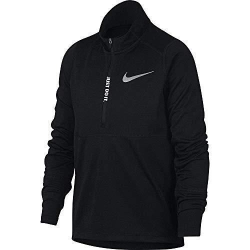Nike Jungen Top Racer Half-Zip Longsleeve, Black, XS (Jungen Winter Nike Mäntel)