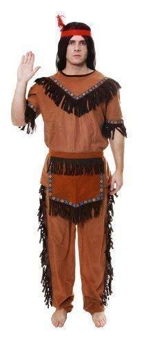 Erwachsene Bestes Outfit Fancy Dress Party Kostüm Native Indianer-mann