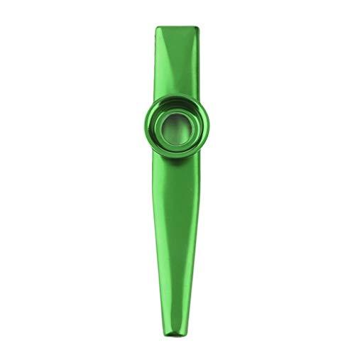 WEIWEITOE-DE Kreative Metall Kazoo 4 Farben Flöte Membran Mundharmonika Geschenk Für Kinder Liebhaber Weihnachten Praktische, grün,