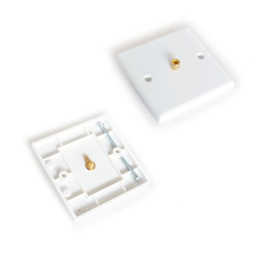 SINGLE 1 RCA PHONO FEMALE SOCKET OUTLET WALL FACE PLATE - AUDIO SUB COMPOSITE by Cablefinder (Wall Plate Sub)