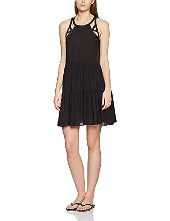 Seafolly Damen Strandkleider Multi Stitch Tiered Dress Schwarz (Black), 34 (Herstellergröße:XS)