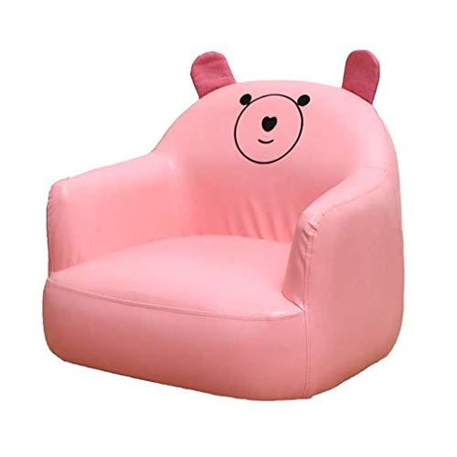 SXFYHXY Kleines Sofa Kinder Leder Kunst Cartoon wasserdichte Sessel Baby Lazy Seat Geeignet für 1-6 Jungen und Mädchen,Pink