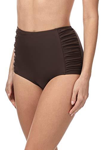 Merry Style Damen Bikinislip MS10-119 Bikinihose Bauch Weg Effekt (Braun (8157), 38)