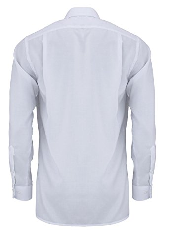 OLYMP - Chemise casual - Uni - Col Chemise Classique - Manches Longues - Homme Weiß