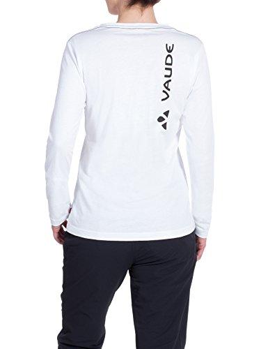 VAUDE Damen T-Shirt Brand Long Sleeve white