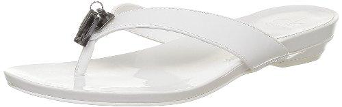 Calvin Klein - Yori Patent, Sandali Donna Bianco (Blanc (Wht))