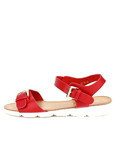 Cendriyon Sandale rouge LAURA MODE Chaussures Femme