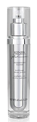 Kenro Platinum Spray Platinum Silkening Gloss - Formule ultra légère - Éclat et contrôle pour cheveux secs et crépus - 65 ml (2.26 oz)