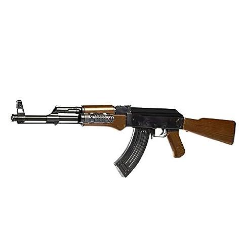Carabine Crosse Bois - FUSIL AK47 0926D ABS NOIR ET MARRON
