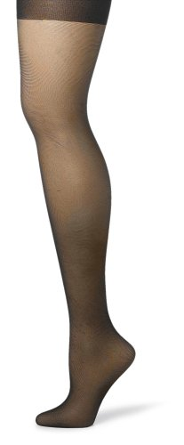 Hanes Silk Reflections Women's Silky Sheer Control Top Sandalfoot Hosiery, Jet, EF (Pack of 3) -