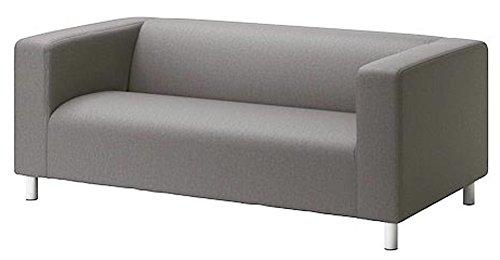 Sofa Pro Die Klippan Loveseat Abdeckung Ersatz ist nach Maß für IKEA Klippan Loveseat Slipcover, A-Sofa-Abdeckung Ersatz. Decken Sie nur! Feuerzeug Grau