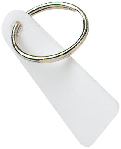 Bulk Hardware BH01838 Solides Plastik-Schlüsselringetikett - Weiß  (Packung à 10)