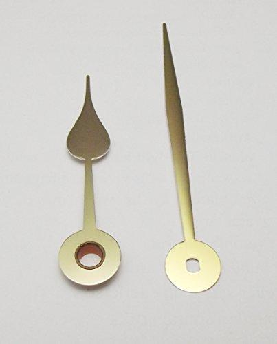 1 Paar Zeiger Birnform für Junghans W838 und W817, metall goldfarbig 73 mm