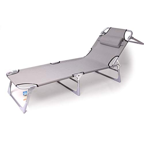 Chaises longues Lit de repos inclinable Chaise de relaxation Piscine Zero Gravity Chaise longue pliante Patio réglable Camping Plage de bronzage
