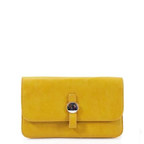 LeahWard Clutch-Taschen für Damen Party Hochzeit Abend Schulter Handtaschen J62 (Senfgelb) -