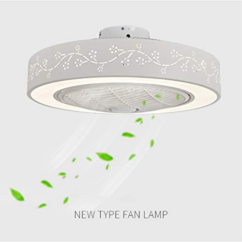 JINWELL Fan deckenventilator LED Deckenleuchte kreative moderne mit fernbedienung leise deckenventilator Schlafzimmer Lampe Kinderzimmer Wohnzimmer deckenventilator beleuchtung (Größe:59 * 9.5cm)