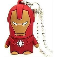 Super Hero USB unidad Flash Memory Stick 8g-128g–Único intercambiables piel Pen Drive 8G Iron Man