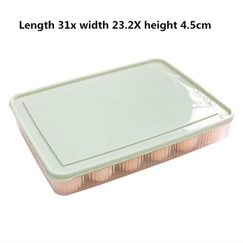 WE-WIN Huevos dispensador Clear Holder caja de almacenamiento capacidad contenedor de alimentos apilables