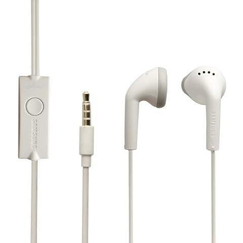 Original Samsung Headset EHS61 in Weiss für I9105P GALAXY S II Plus Kopfhörer Ohrhörer geformt Ohrstöpsel 3,5mm Stecker Stereo Sound Bulk