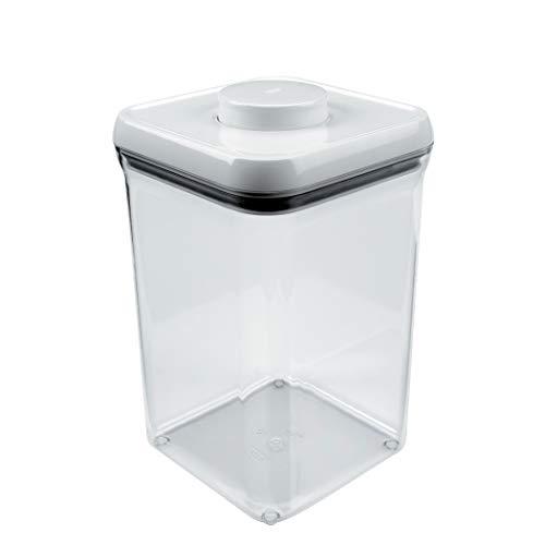 Oxo good grips pop contenitore quadrato grande - 3,8l, plastica, trasparente