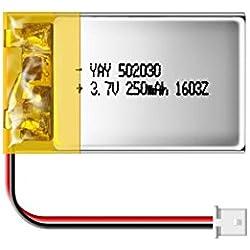 matecam 3,7V 250mAh Lipo Recargable Mini batería de polímero de litio recargable para 808mate808# 18llavero cámara