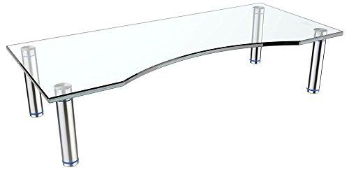 """RICOO TV Ständer Monitorständer Bildschirmständer Podest FS7024C Universal Standfuß Rack Fernsehständer LCD QLED QE 4K LED OLED IPS SUHD UHD 3D Curved/ 76cm/30"""" - 119/47"""" Zoll /Klarglas"""