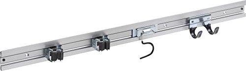 Meister Gerätehalterleiste 800 mm - Geräteleiste & 4 Gerätehalter - Aluminium - Leichte...
