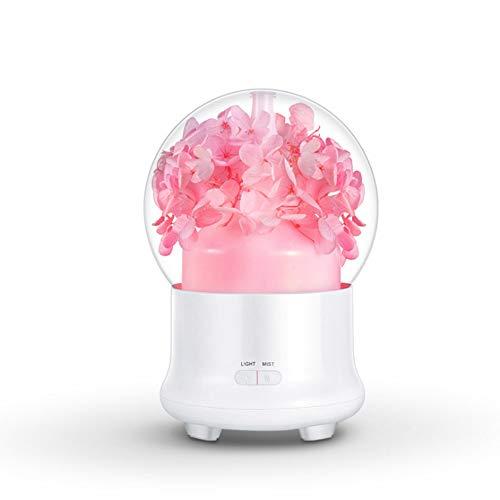 Diffusore di oli essenziali per aromaterapia, umidificatore a nebbia fredda ultrasonico da 100 ml con luci a led colorate per casa, yoga, ufficio, spa, camera da letto, baby room,pink