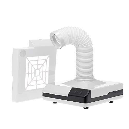 Anself 60W Aspiradores de Polvo de Uñas, Aspirador de manicure Polvo colector de succión Filtro reemplazable y 3 respiraderos de escape 3 luces LED para Uñas Manicura Ideal para esteticistas