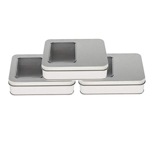 Baoblaze 3 x Keksdose/Gebäckdose tragbar Metall Behälter Blechdosen mit Deckel Weißblech Leere...
