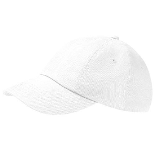 Beechfield Unisex Baseballkappe mit niedrigem Profil aus Baumwolle (One Size) (Weiß)