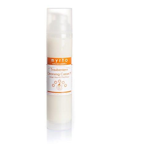 myrto-naturalcosmetics - Bio Traubenkern Cleansing Cream M - Reinigungscreme für empfindliche & unreine Mischhaut | ohne Duftstoffe ✔ ohne Alkohol ✔ – 100ml