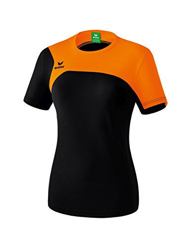 Erima Club 1900 2.0 T-Shirt Femme Noir/Orange