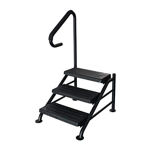 BP Swim Spa Deluxe Stufen - Stabil - 3 Stufen mit Handlauf Treppen Pool -