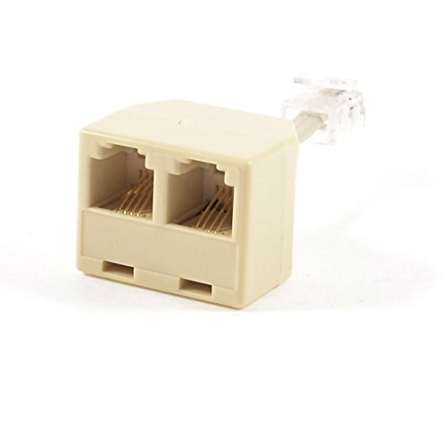 Telephone RJ11 Splitter Maschio  Line to Double RJ11 Female