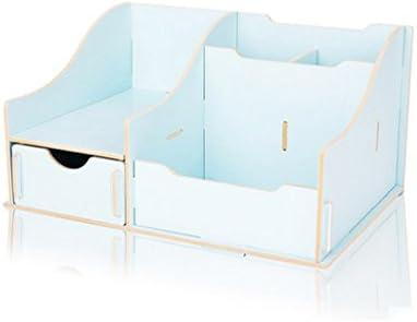 Liu Yu·Bureau, fournitures de bureau Bureau de bureau bleu porte-serviettes en bois multifonctionnel combiné tiroir boîte de rangeHommes t   Outlet Store En Ligne