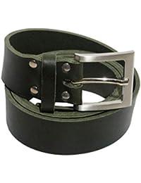 Ledergürtel aus hochwertigem Vollrindleder 4 cm breit grün aus eigener  Fertigung 7ca277179c