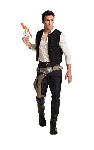 Star Wars Herren Kostüm Han Solo zur Film Reihe, größe  6 (Und Gürtel Solo Han Holster)