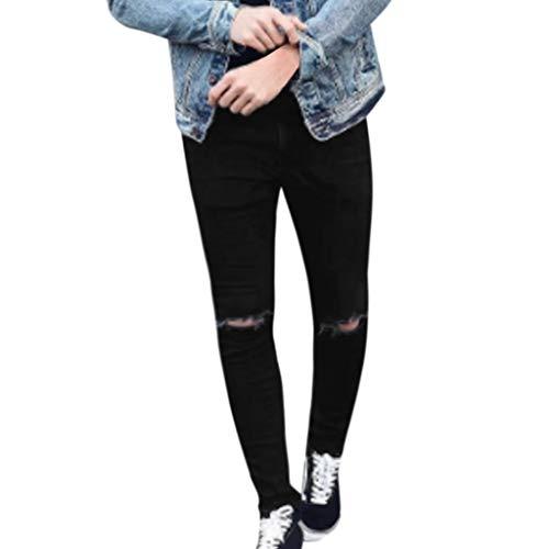Mymyguoe Herren Denim Cotton Straight Hose Distressed Jeans Lange Hose Herren Slim Denim Pants Slim Denim Pant