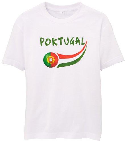 Supportershop Kinder Fan T-shirt, weiß, 4/5 Jahre
