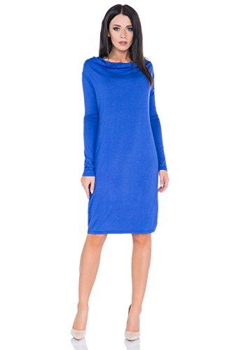 FUTURO FASHION Damen Jumper Kleid Gr. 36 (M), königsblau