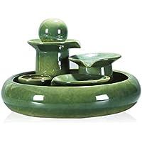 JIEJIE Fuente Oficina de sobremesa Fuentes de cerámica Feng Shui Fuente de Agua de Regalo del Arte Fuente Tablero Decorativo Waterscape Adornos decoración del hogar de Escritorio QIANGQIANG