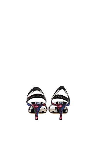KCE774MUT Christian Dior Sandale Femme Tissu Multicouleur Multicouleur