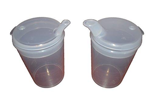 Becher zum Füttern aus Kunststoff mit Auslauf Erwachsene Feeder Becher Krankenhaus Tasse Behinderung Aids 2Stück Tassen mit schmalem Ausguss -