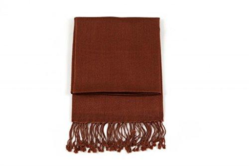 Ritz Collection les châles de soie pashmina des femmes brown